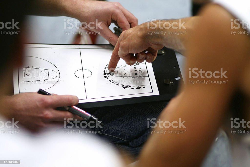 Basketball Strategy royalty-free stock photo