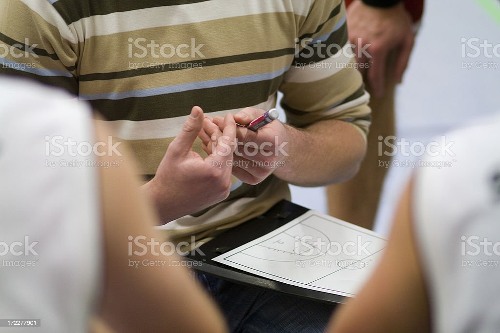 Basketball Strategy royalty-free stock photo