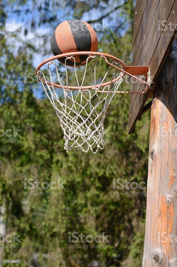 Basketball Swish stock photo