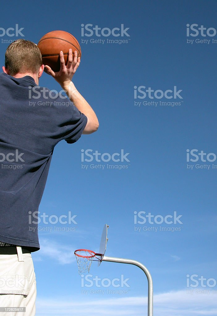 Basketball - Take the Shot royalty-free stock photo