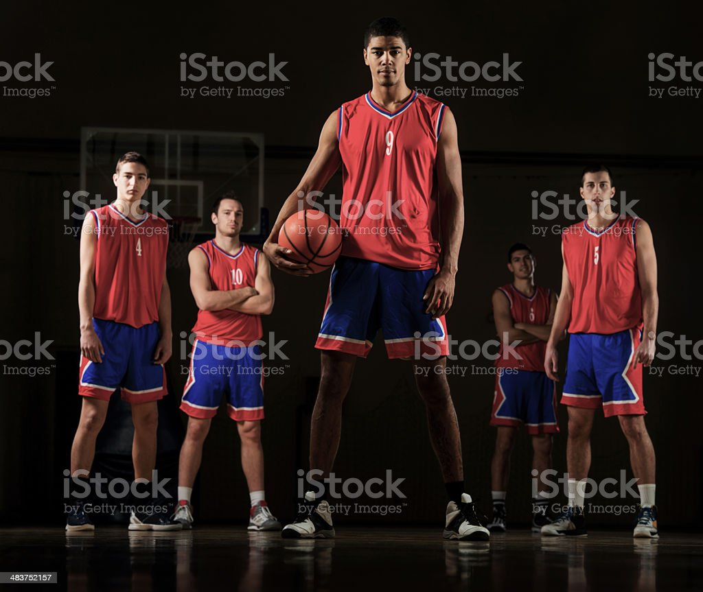 Basketball team. royalty-free stock photo