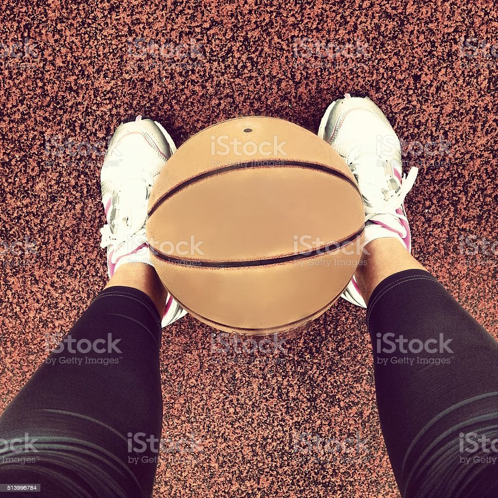 Basketball time, sports lifestyle royalty-free stock photo