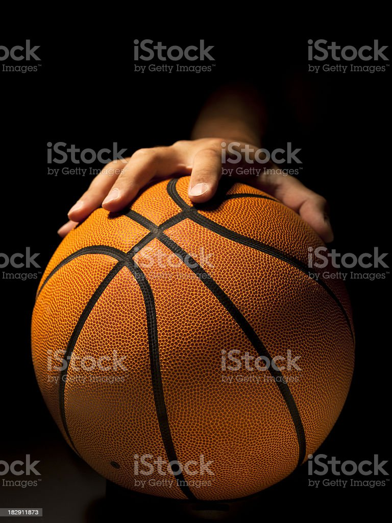 Basketball tip off royalty-free stock photo