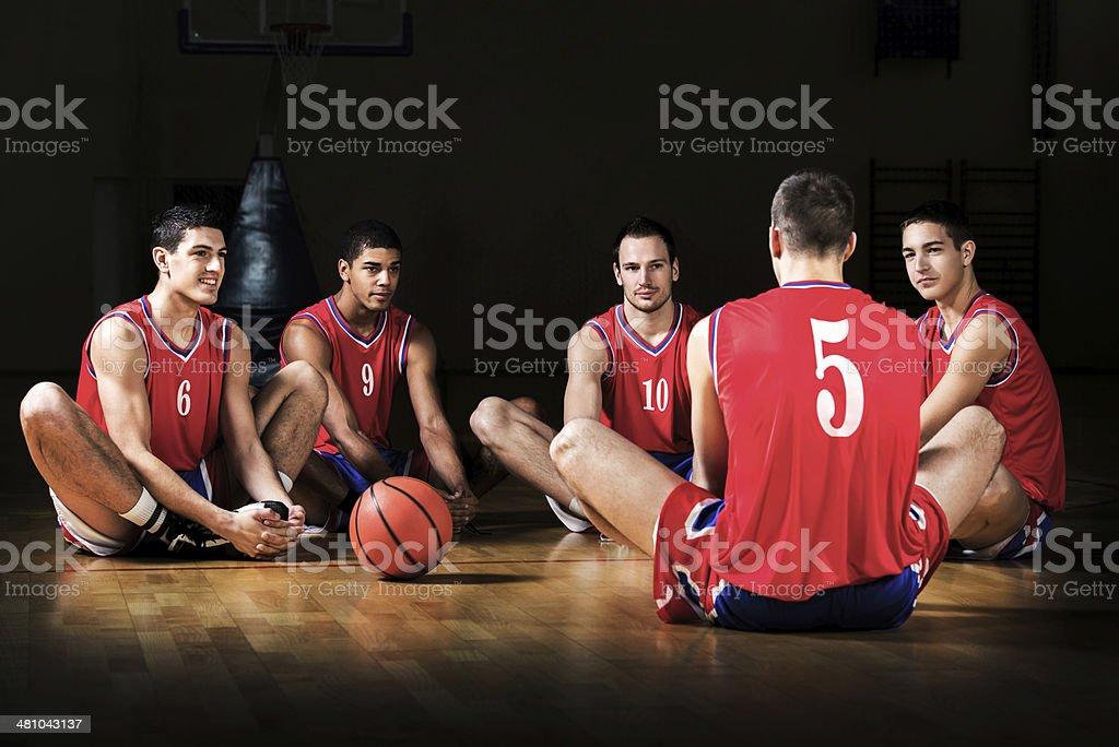 Basketball training. royalty-free stock photo