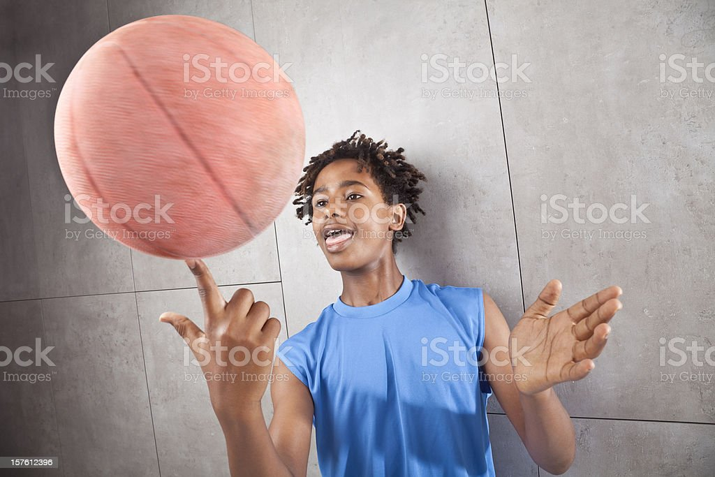 Basketball trick royalty-free stock photo