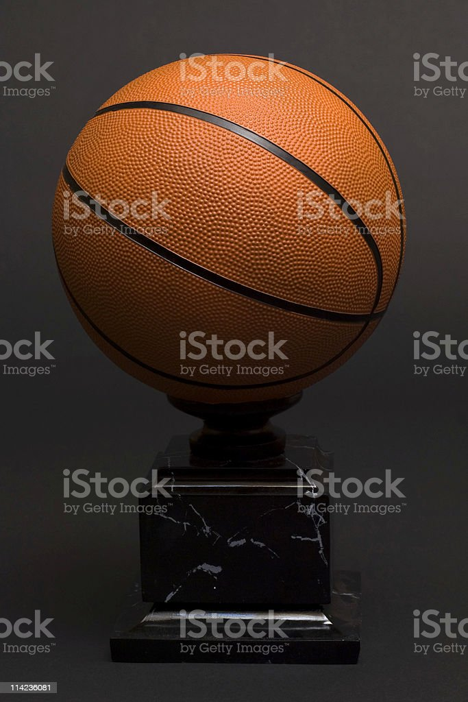 basketball trophy stock photo