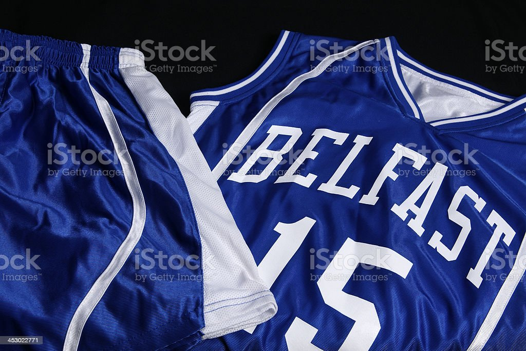 Basketball uniform royalty-free stock photo