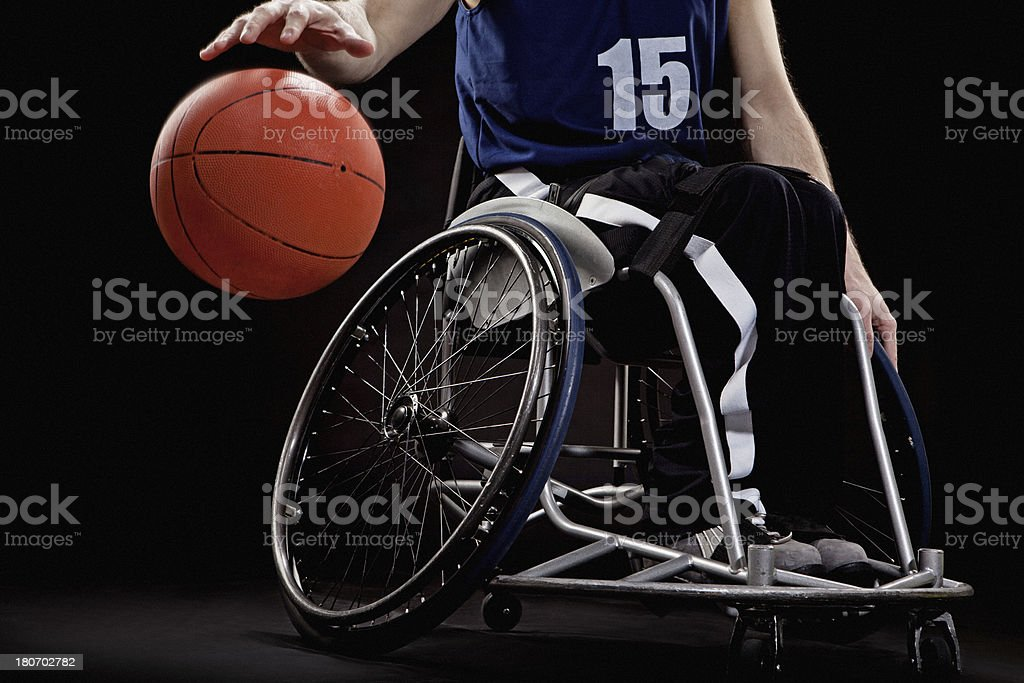 basketball wheelchair player stock photo