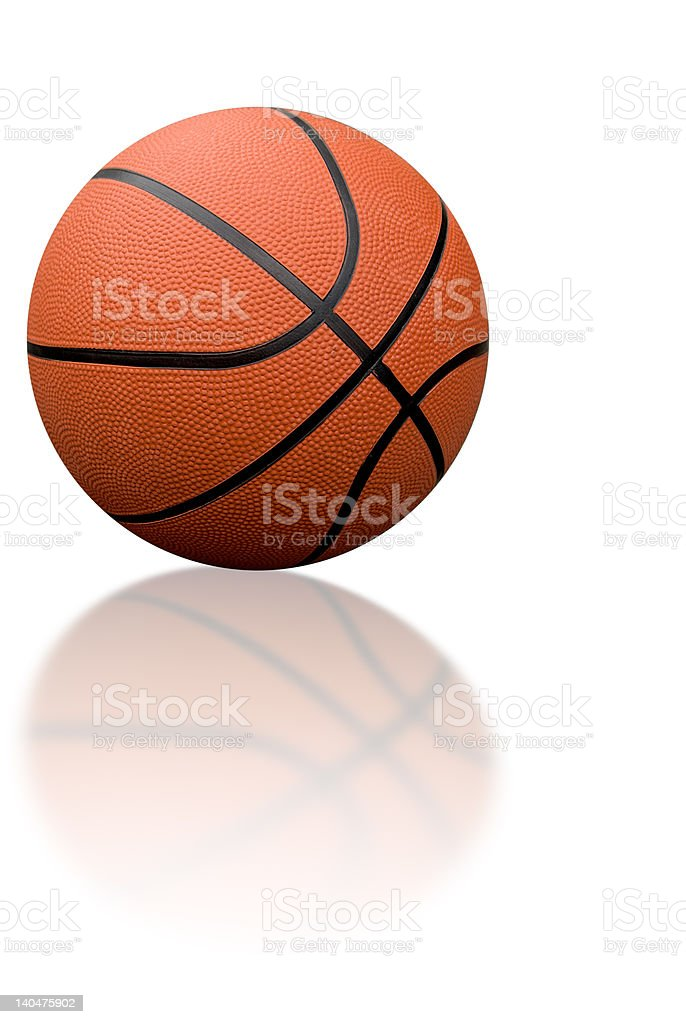 Basketball with reflection royalty-free stock photo