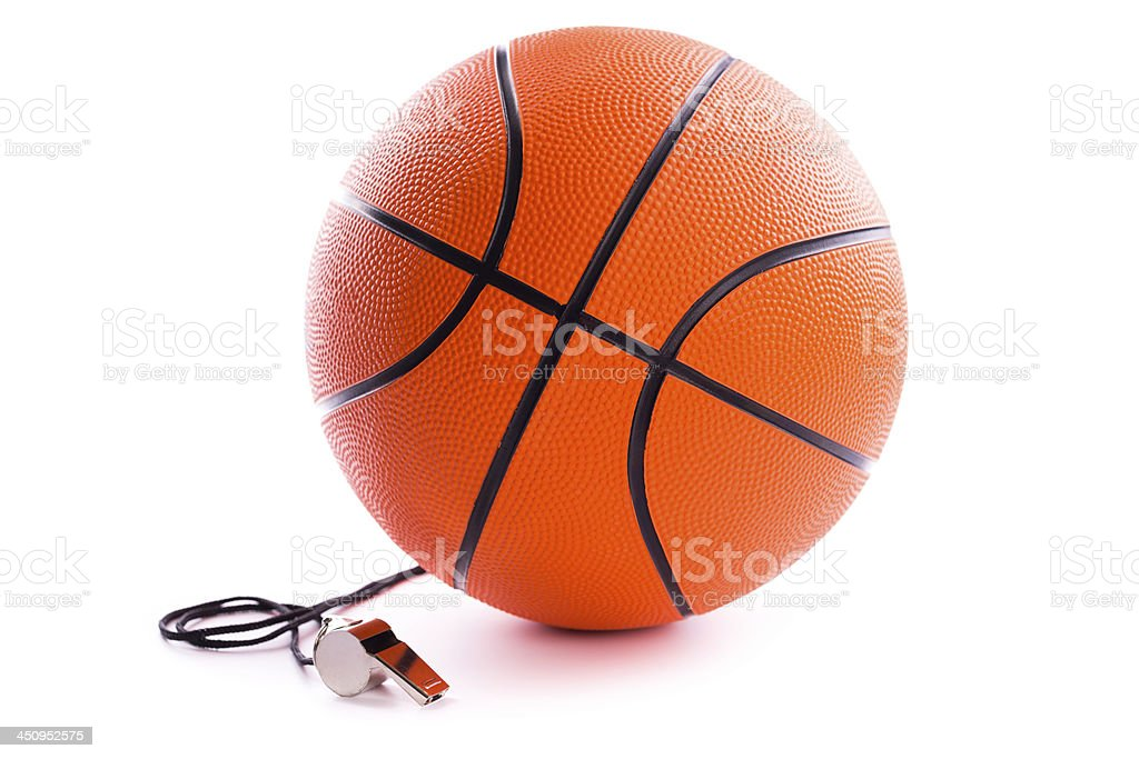 basketball with whistle royalty-free stock photo