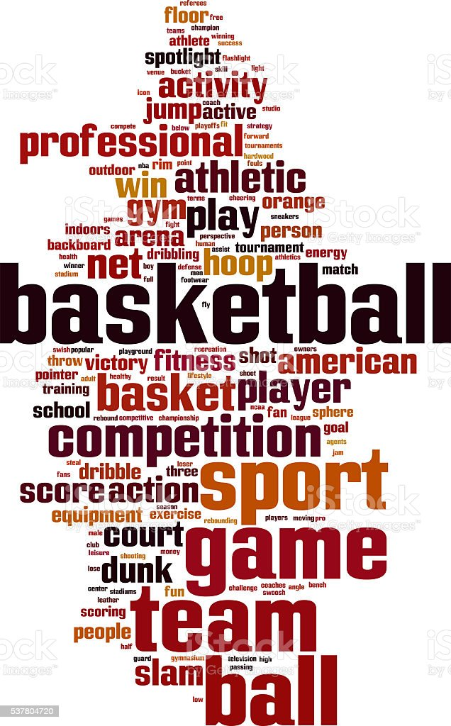 Basketball word cloud stock photo