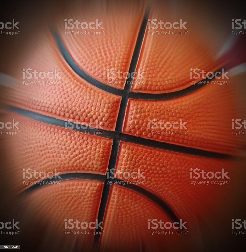 Basketball/orange basketball with vignette border. stock photo