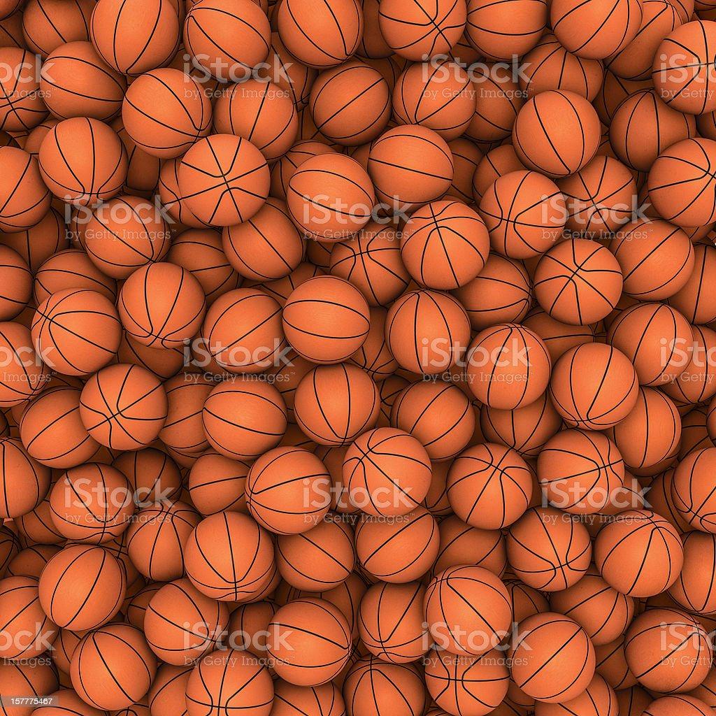 Basketballs background stock photo