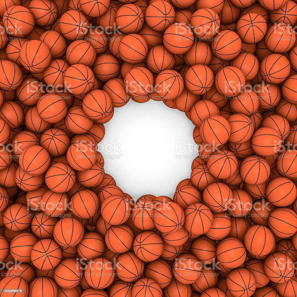 Basketballs frame stock photo