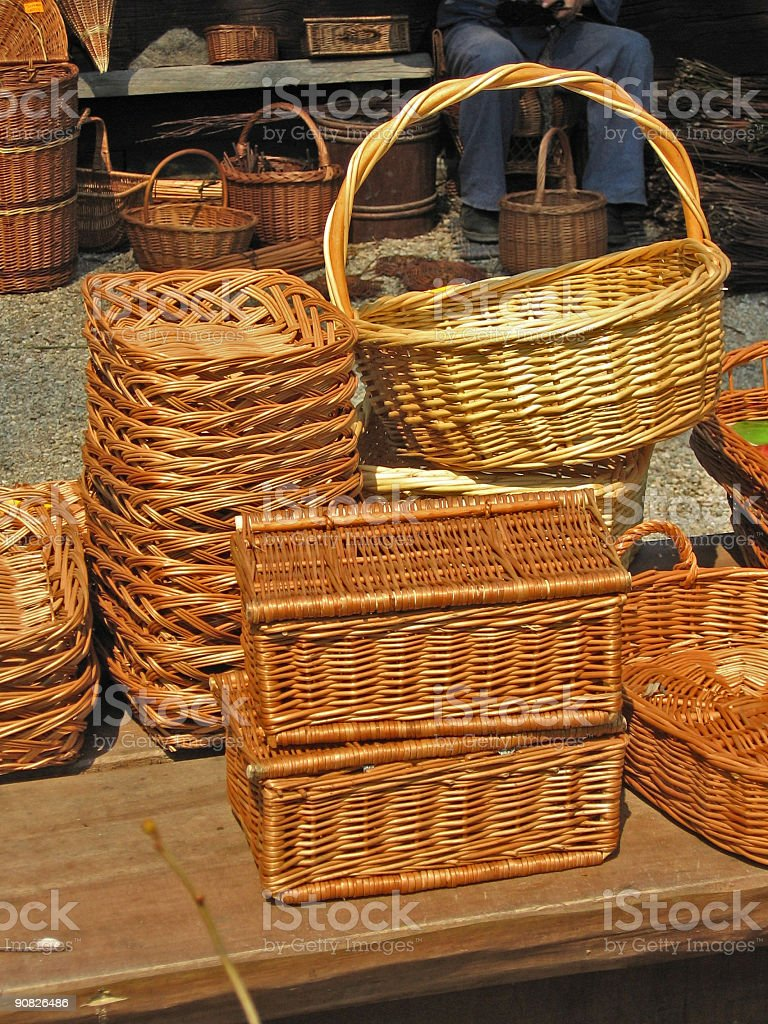 baskets 2 royalty-free stock photo