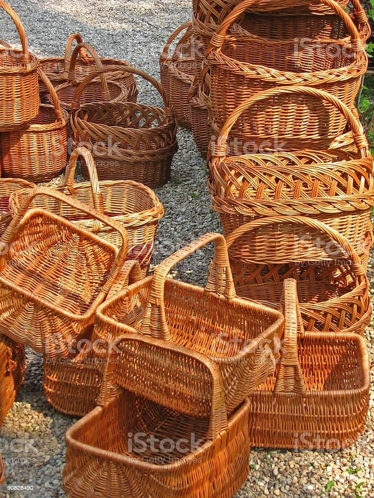 baskets 3 royalty-free stock photo