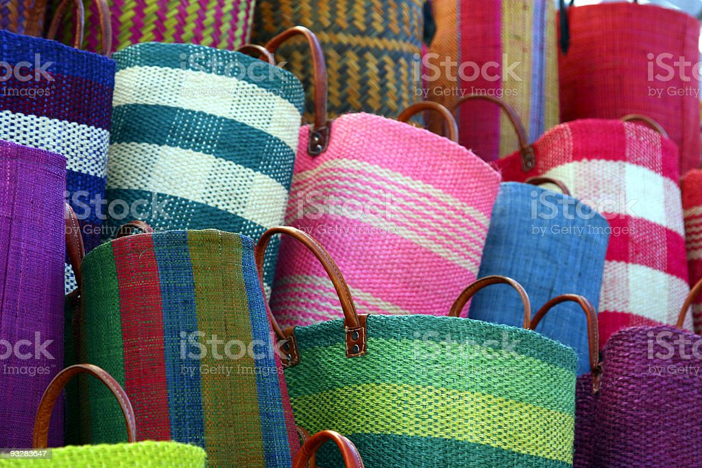 Baskets for sale stock photo