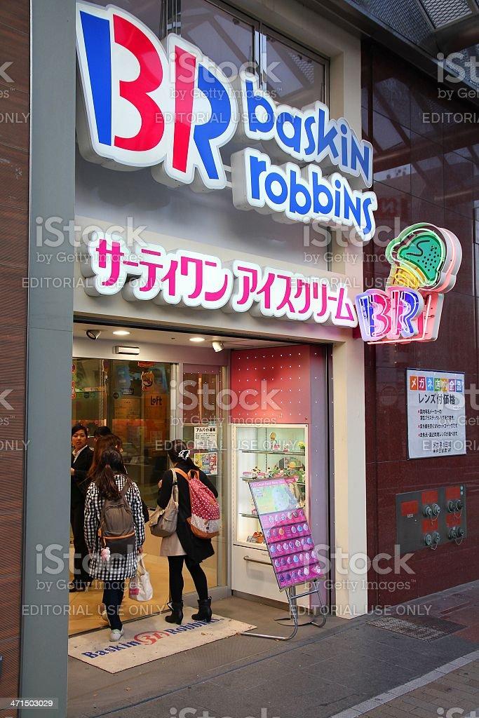 Baskin Robins ice cream stock photo