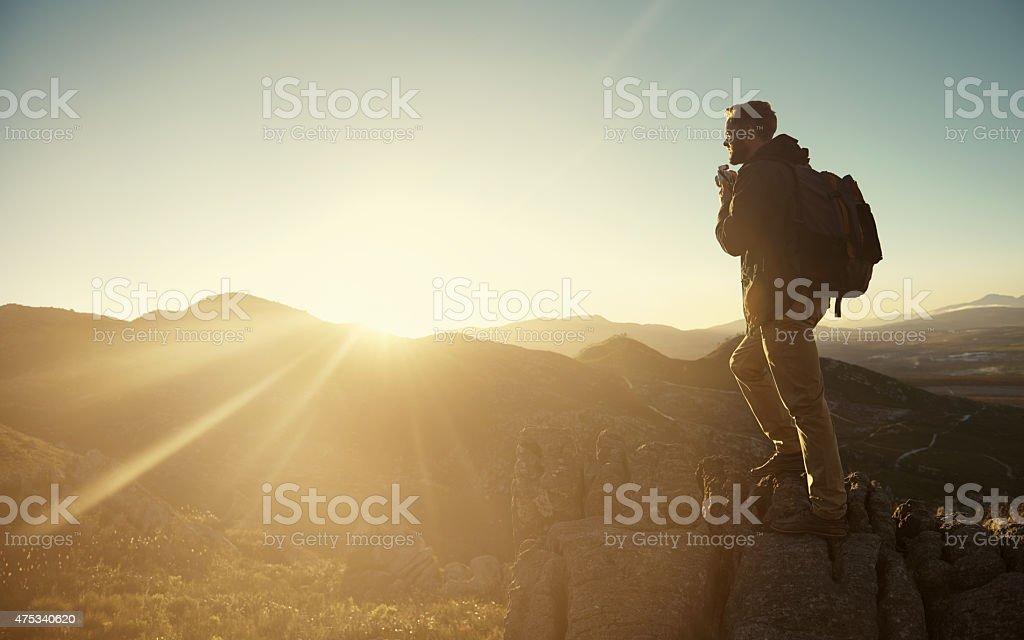 Basking in nature's glory stock photo