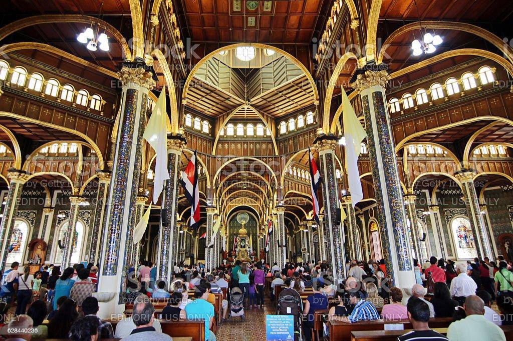 Basílica de Los Angeles, Cartago, Costa Rica stock photo