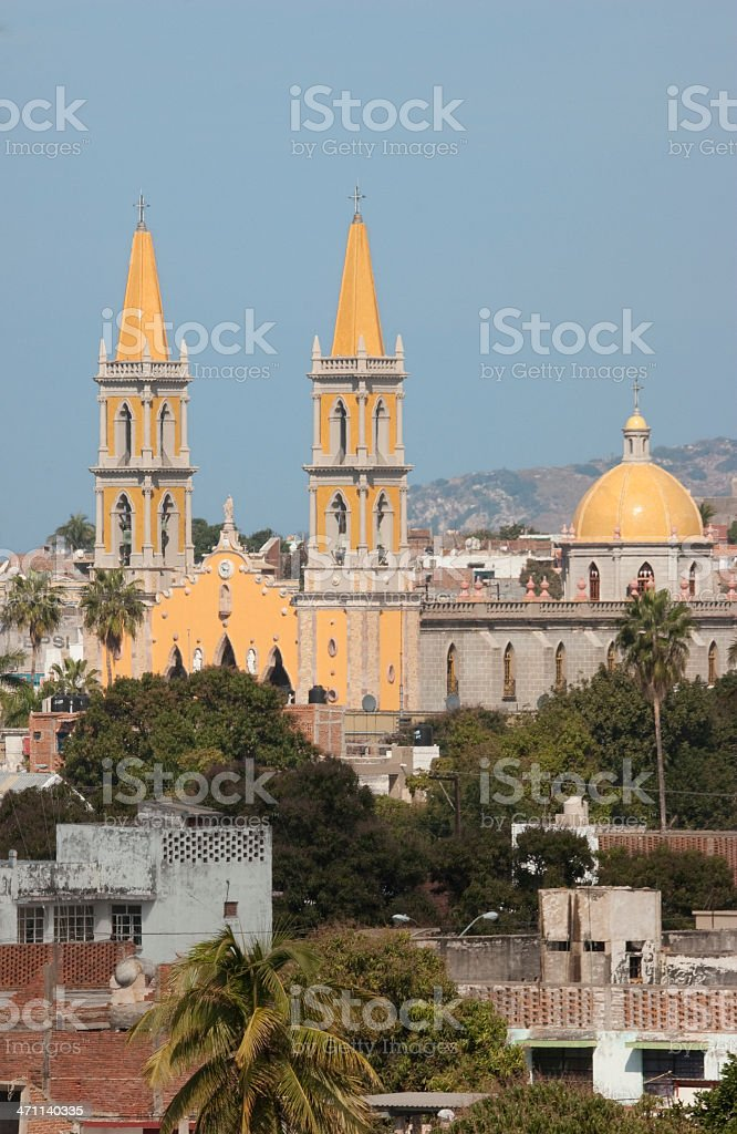 Basílica del la Inmaculada Concepción, Church, Cathedral, Place-of-Worship, Mazatlan Mexico royalty-free stock photo