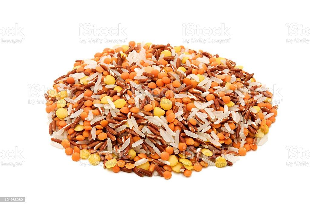 Basmati rice and lentils royalty-free stock photo