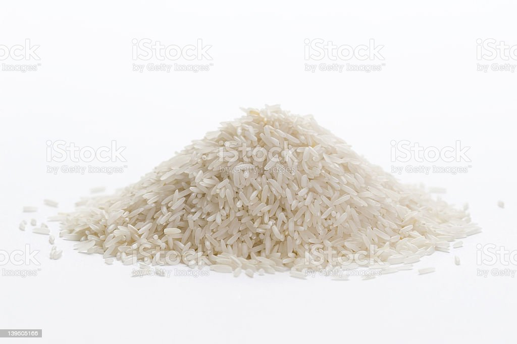 basmati rice stock photo