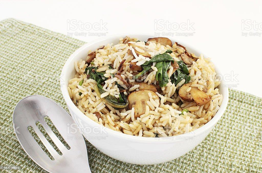 Basmati rice pilaf stock photo