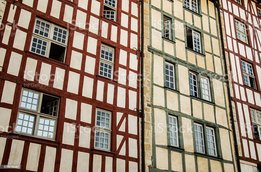 Basque architecture stock photo