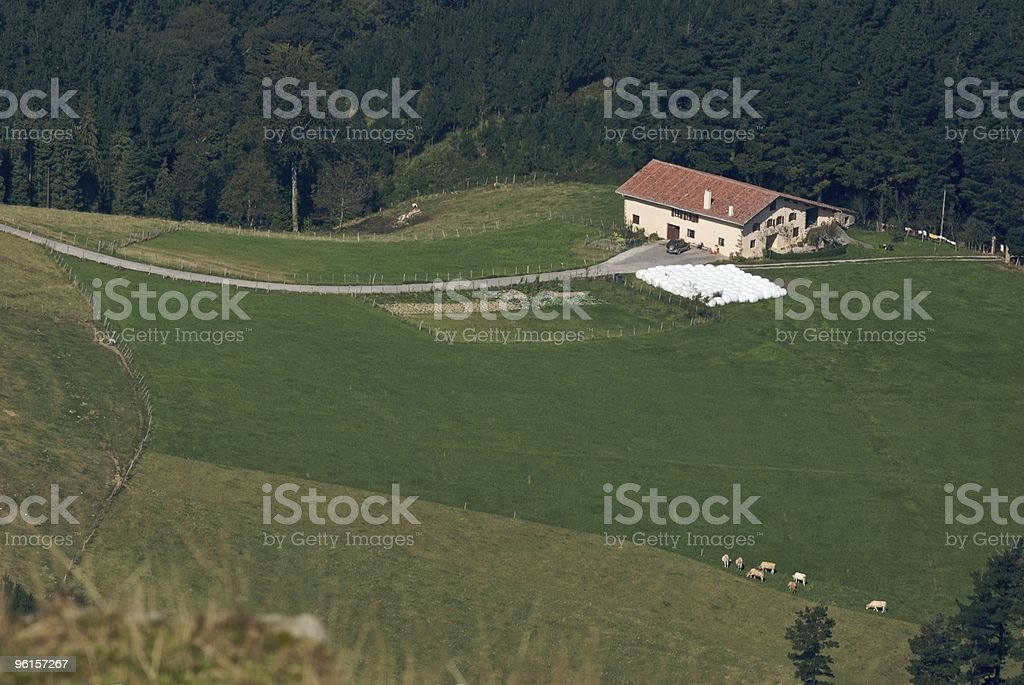 Basque farmhouse stock photo