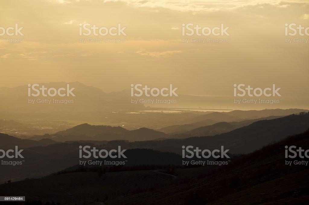 Basque Sunset stock photo