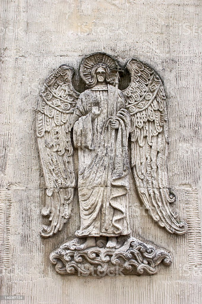 Bas-relief in a chapel royalty-free stock photo