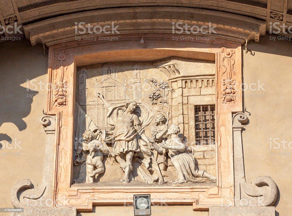Bas-relief Italian stock photo