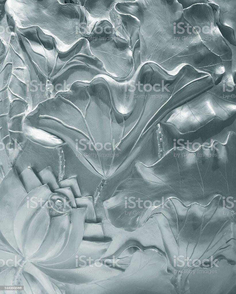 Bas-relief of flowers stock photo