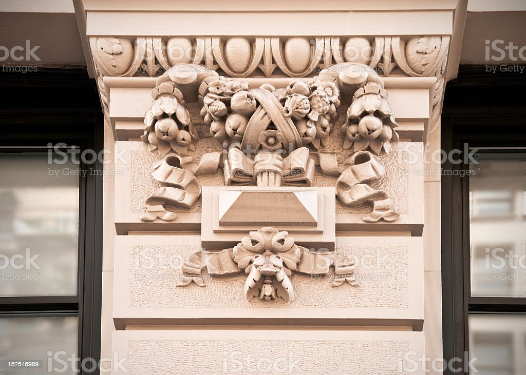 Bas relief stock photo