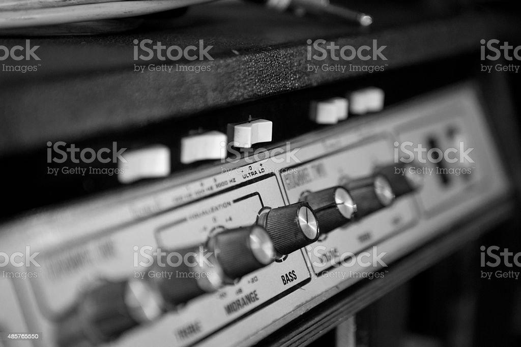 Bass amplifier stock photo