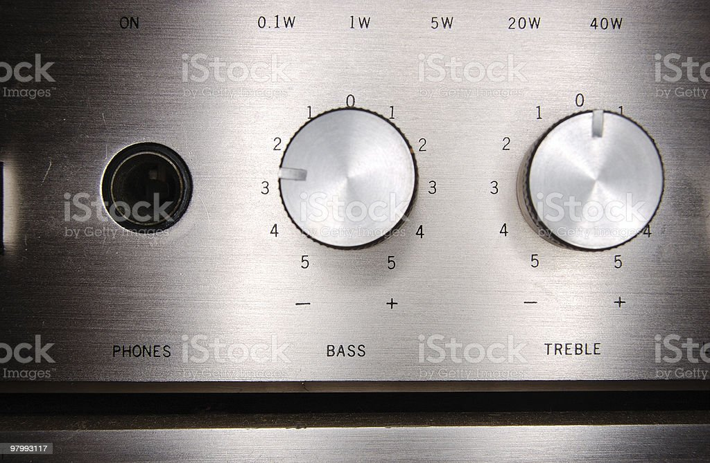 Bass and Treble Dial royalty-free stock photo
