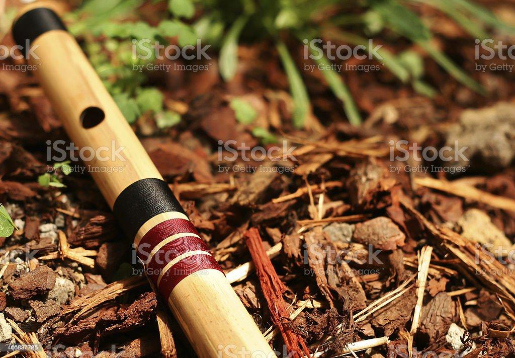 Bass bansuri flute stock photo