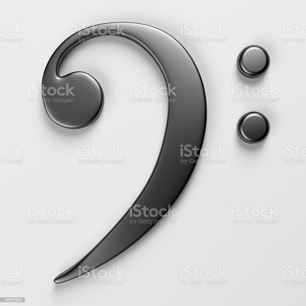 Bass Clef stock photo