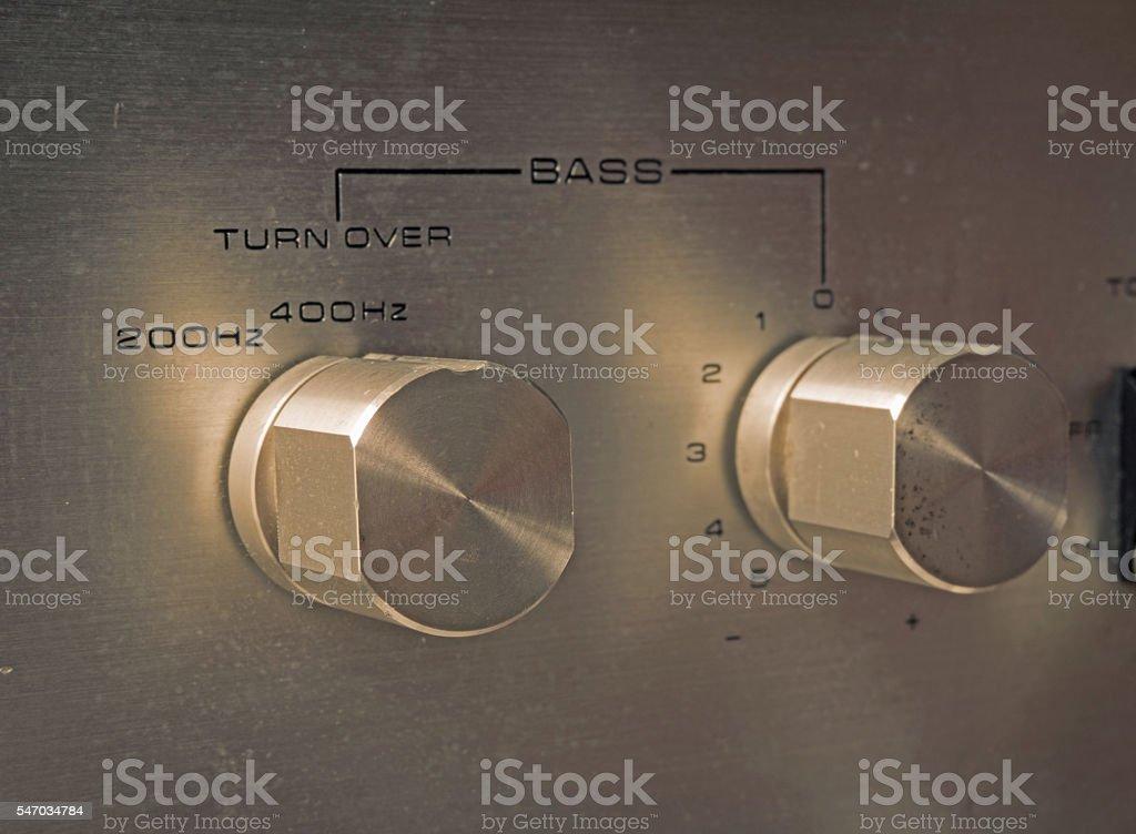 Bass control button stock photo