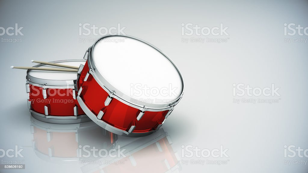 Bass drum isolated stock photo