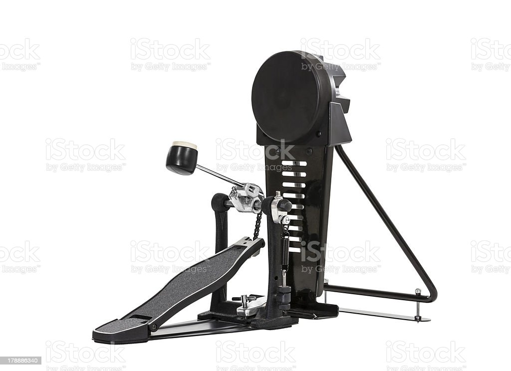 Bass Drum Pedal Isolated royalty-free stock photo
