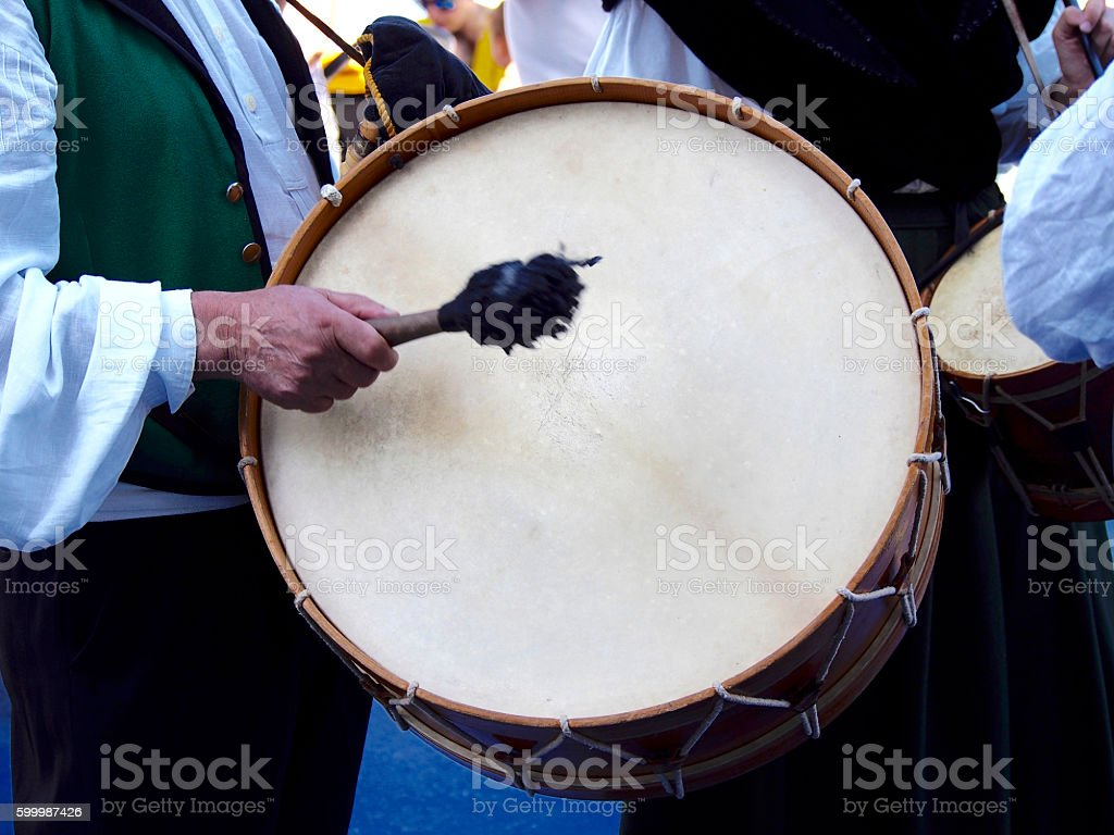Bass drum stock photo