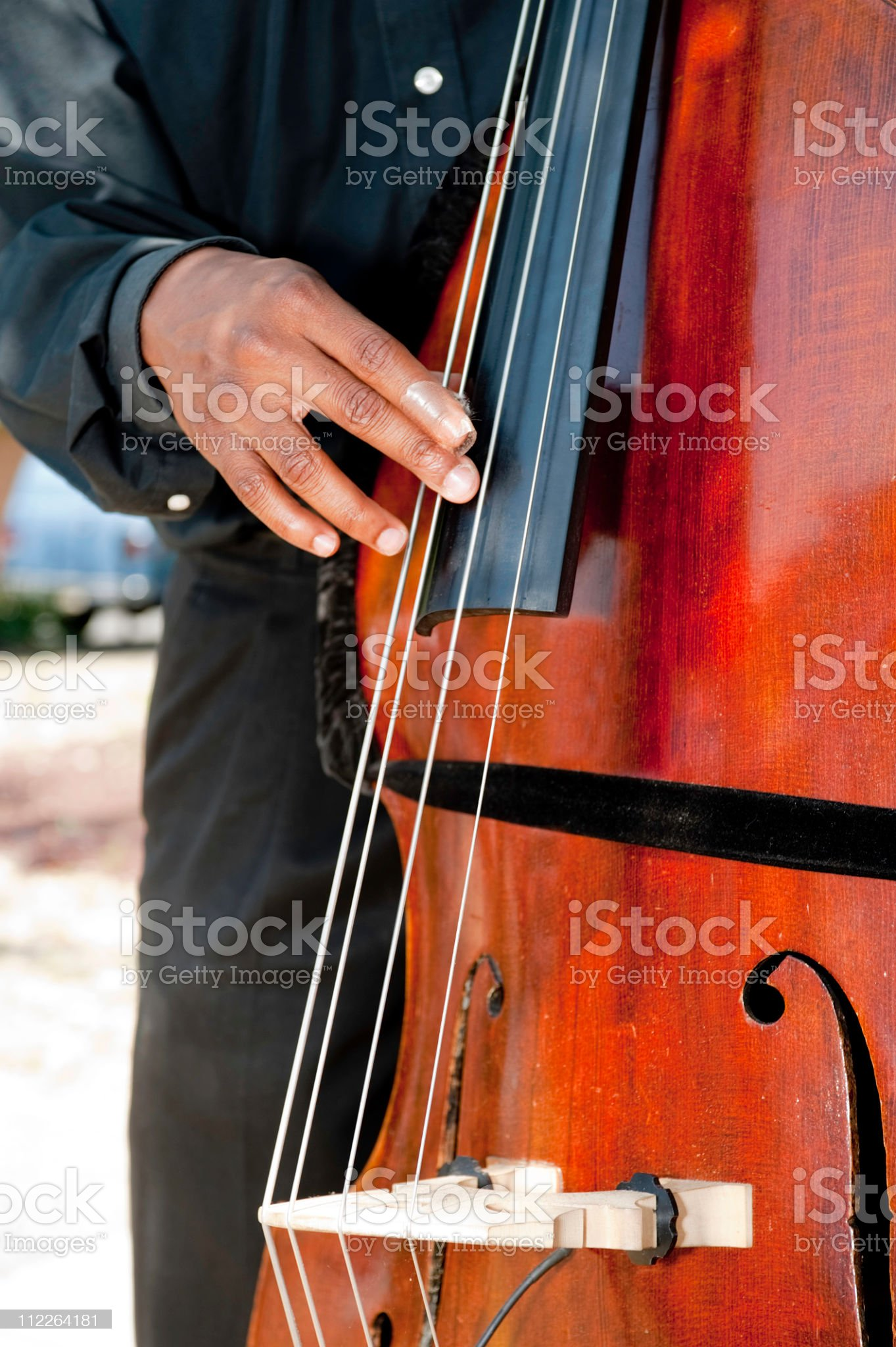 bass fiddle entertainer royalty-free stock photo