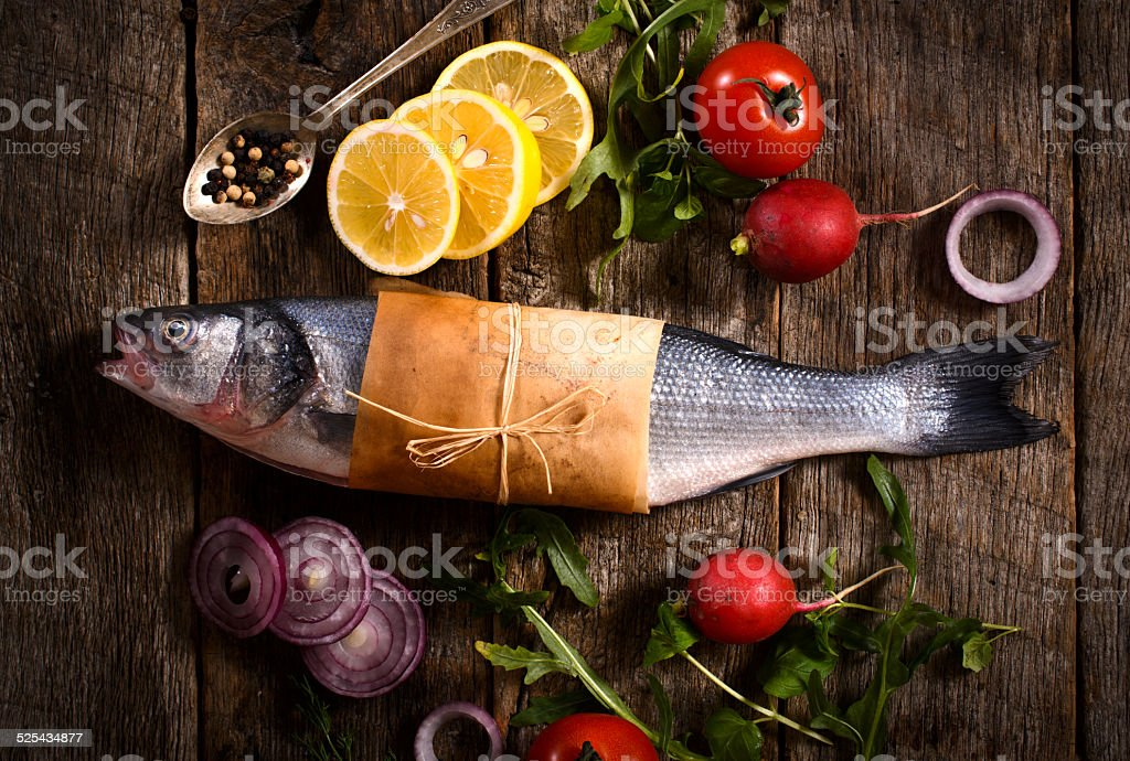 Bass fish stock photo