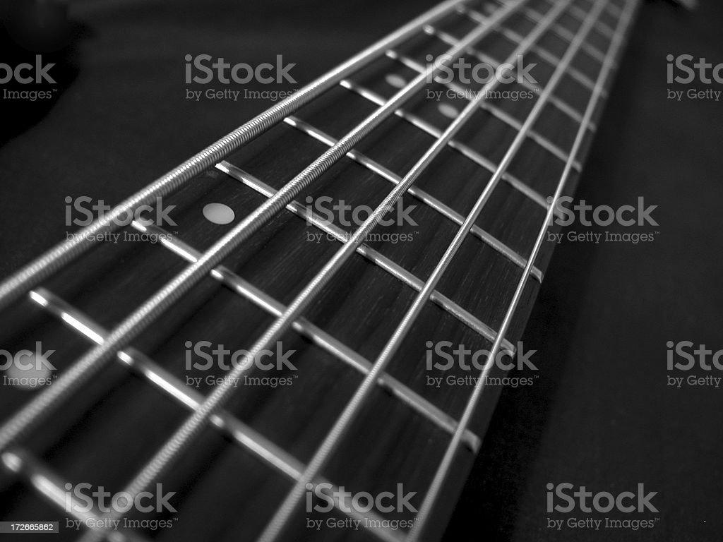Bass Fretboard 2 royalty-free stock photo