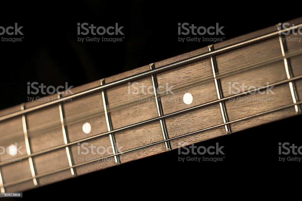 Bass Guitar Fretboard royalty-free stock photo