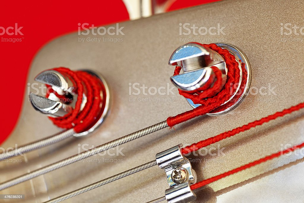 Bass Guitar Headstock Detail stock photo
