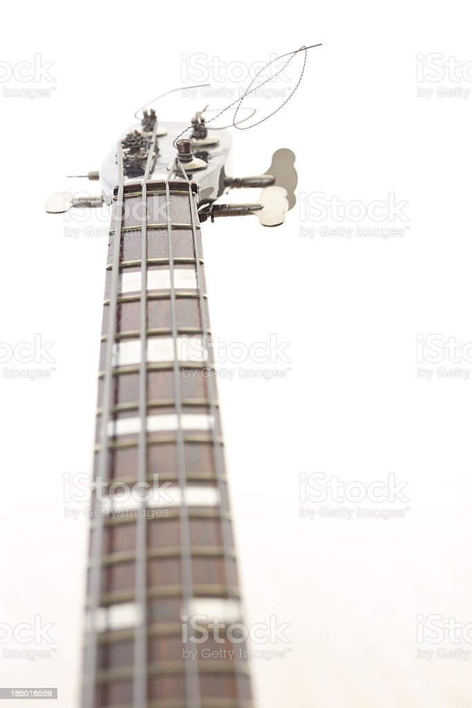 bass guitar isolated on white royalty-free stock photo