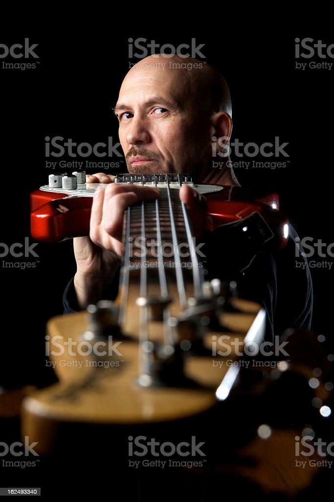 Bass Guitar Musician royalty-free stock photo